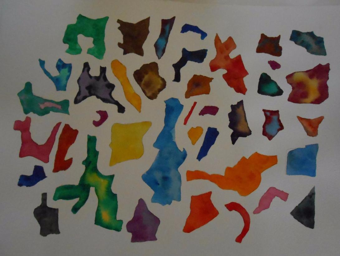 watercolour shapes